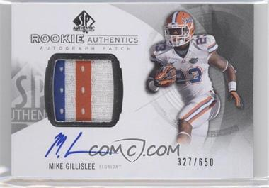 2013 SP Authentic - [Base] #167 - Rookie Patch Autographs - Mike Gillislee /650