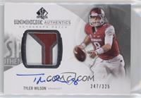 Rookie Patch Autographs - Tyler Wilson #/325