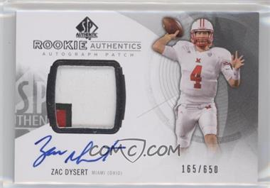 2013 SP Authentic - [Base] #173 - Rookie Patch Autographs - Zac Dysert /650