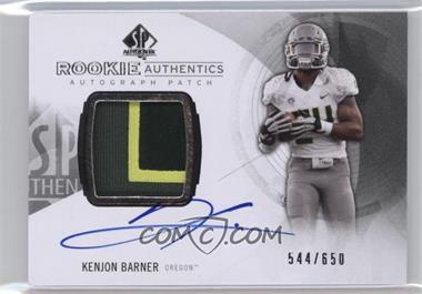2013 SP Authentic - [Base] #174 - Rookie Patch Autographs - Kenjon Barner /650