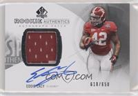 Rookie Patch Autographs - Eddie Lacy [Noted] #/650