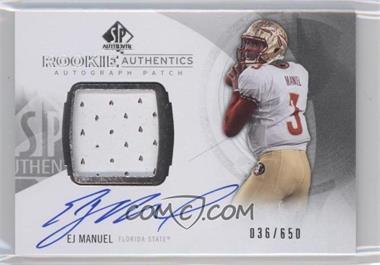 2013 SP Authentic - [Base] #182 - Rookie Patch Autographs - EJ Manuel /650