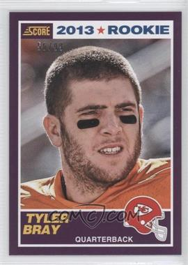 2013 Score - [Base] - Rookies Purple #432 - Tyler Bray /99