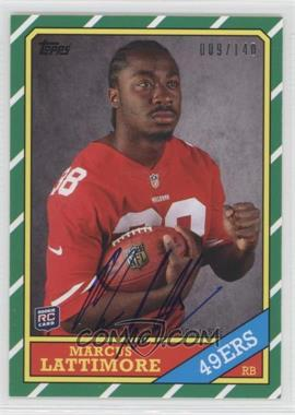 2013 Topps - 1986 Topps Rookie Autographs - [Autographed] #24 - Marcus Lattimore /140