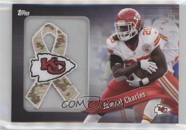 2013 Topps - Blaster Box Commemorative Team Patch Ribbon - Military #PR-JC - Jamaal Charles