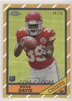 Knile Davis [EX to NM] #/75
