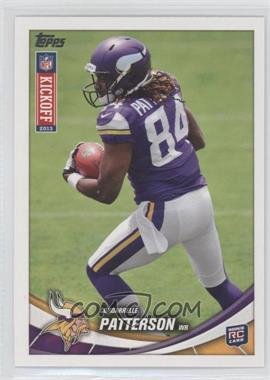 2013 Topps Kickoff - [Base] #8 - Cordarrelle Patterson