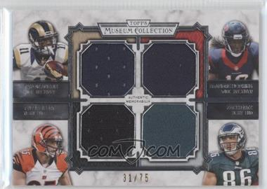 2013 Topps Museum Collection - Four-Player Quad Relic #MQR-AHEE - Tavon Austin, Tyler Eifert, Zach Ertz /75