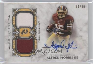 2013 Topps Museum Collection - Signature Swatches Dual Relic Autographs #SSDRA-AM - Alfred Morris /80