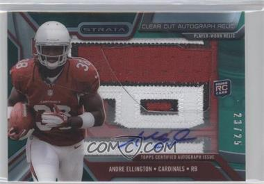 2013 Topps Strata - Clear Cut Autograph Rookie Relics - Emerald Patch #CCAR-AE - Andre Ellington /25