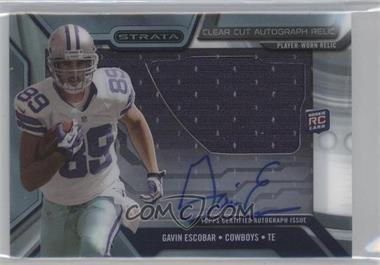 2013 Topps Strata - Clear Cut Autograph Rookie Relics #CCAR-GE - Gavin Escobar