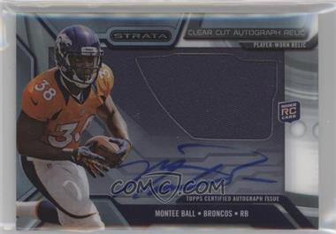 2013 Topps Strata - Clear Cut Autograph Rookie Relics #CCAR-MBA - Montee Ball