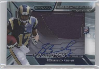 2013 Topps Strata - Clear Cut Autograph Rookie Relics #CCAR-SB - Stedman Bailey