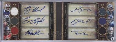 2013 Topps Triple Threads - Autograph Relic Double Combos Book - Gold #TTARDC-MSGBNW - EJ Manuel, Geno Smith, Mike Glennon, Matt Barkley, Ryan Nassib, Tyler Wilson /18