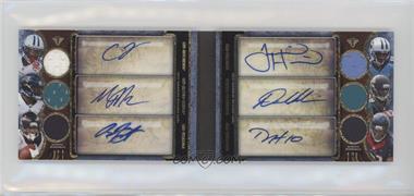 2013 Topps Triple Threads - Autograph Relic Double Combos Book - Sapphire #TTARDC-JJFHRH - Chris Johnson, Maurice Jones-Drew, Arian Foster, Justin Harper, Denard Robinson, DeAndre Hopkins /9