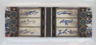 2013 Topps Triple Threads - Autograph Relic Double Combos Book #TTARDC-VBMMCE - Michael Vick, Matt Barkley, LeSean McCoy, Jeremy Maclin, Brent Celek, Zach Ertz /27