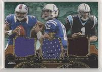 EJ Manuel, Andrew Luck, Cam Newton #/18