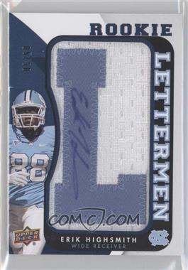 2013 Upper Deck - Rookie Lettermen Autographs #RL-EH - Erik Highsmith /50
