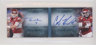 2013 Upper Deck Quantum - Moments in Time Rookies Dual Autograph Booklet #MTR-WH - Tyler Wilson, Cobi Hamilton /75