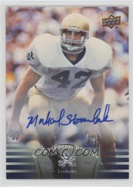2013 Upper Deck University of Notre Dame - Autographs #51 - Michael Stonebreaker