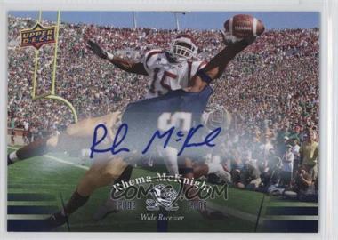 2013 Upper Deck University of Notre Dame - Autographs #78 - Rhema McKnight