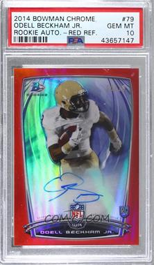 2014 Bowman - Rookie Chrome Refractor Autograph - Red Border #79 - Odell Beckham Jr. /25 [PSA 10 GEM MT]