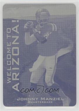 2014 Leaf Johnny Manziel Draft City Redemption - [Base] - Printing Plate Yellow #JM-01 - Johnny Manziel /1