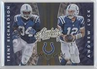 Andrew Luck, Hakeem Nicks, Reggie Wayne, Trent Richardson