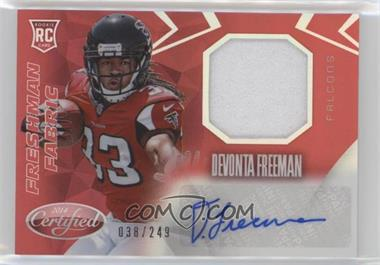 2014 Panini Certified - Freshman Fabric Mirror Signatures - Red #217 - Devonta Freeman /249