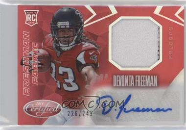 2014 Panini Certified - Freshman Fabric Mirror Signatures - Red #217 - Devonta Freeman /249