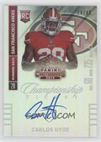 Carlos Hyde (ball in both hands) #/49