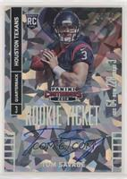 Tom Savage (throwing, ball in right hand) #/22