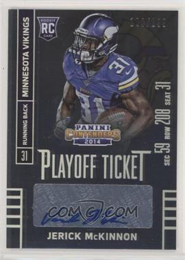 2014 Panini Contenders - [Base] - Playoff Ticket #141.1 - Jerick McKinnon (Ball in Left Hand) /199