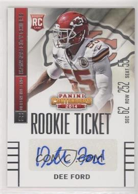 2014 Panini Contenders - [Base] #122.1 - Dee Ford /151
