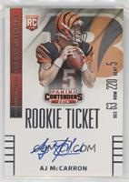AJ McCarron (facing to right side of card) [Noted]