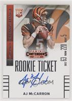 AJ McCarron (facing to right side of card)