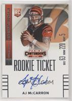AJ McCarron (looking slightly to right side of card) /25