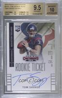 Tom Savage (throwing, ball in both hands) [BGS 9.5 GEM MINT] #/25