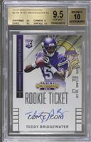 Teddy Bridgewater (throwing, looking to right side of card) /25 [BGS 9.5&n…