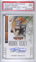 Johnny Manziel (throwing, looking to left side of card) [PSA 9 MINT]