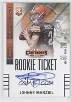 Johnny Manziel (throwing, looking to left side of card)