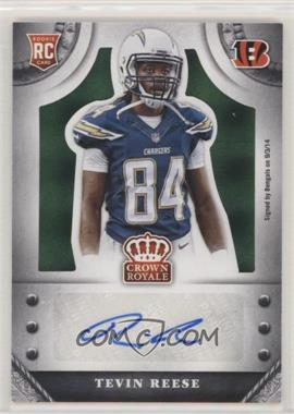 2014 Panini Crown Royale - Rookie Signatures - Green Plaid #S-TR - Tevin Reese /5