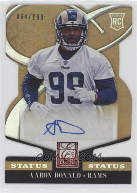 2014 Panini Elite - [Base] - Status Gold Die-Cut #101 - Rookie Signatures - Aaron Donald /199