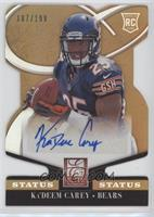 Rookie Signatures - Ka'Deem Carey #107/199