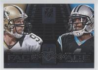 Cam Newton, Drew Brees