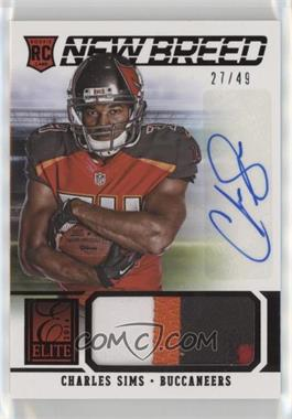 2014 Panini Elite - New Breed Materials - Prime Signatures [Autographed] #11 - Charles Sims /49