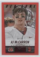 AJ McCarron #/20