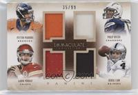 Peyton Manning, Aaron Murray, Philip Rivers, Derek Carr #/99