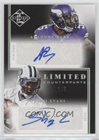 Anthony Barr, Shaq Evans #/5
