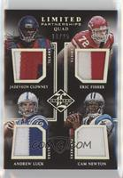Andrew Luck, Cam Newton, Eric Fisher, Jadeveon Clowney #/25